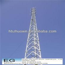 Direct factory telecommunication galvanized legs lattice towers