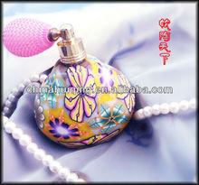 Newest Design Polymer Clay Perfume Glass Bottle Wedding Gift Bottles