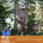 Cute Animated Bear Statue Fiberglass