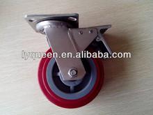 High Capacity hard rubber fixed iron caster wheel
