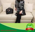 Natural Silver Fox Fur & Rabbit Skin Leather Gilet,Women Fur Vest