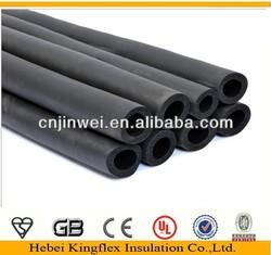 NBR/PVC elastomeric black heat rubber coated steel pipe