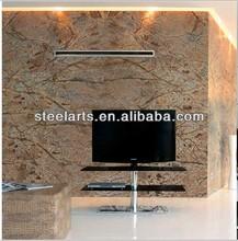 Steel-arts Cheap 3 tier black glass modern TV Stand V552
