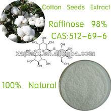 100% Natural Gossypium seed extract 98% Raffinose Pentahydrate Powder CAS:512-69-6