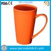 good quality orange ceramic tall mug for giftware