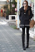 The new plush leather coat jacket Korean women warm coat female wild grass short coat tail coat
