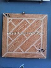 wood color only 40x40cm mould glazed floor tile