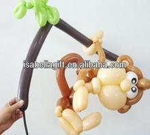 lovely monkey designed from strip latex balloons