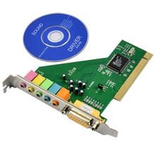 6 Channel PCI 3D Audio Sound Card Game Port