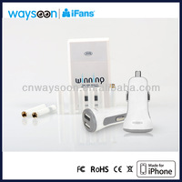 2.1A + 420mAh multi usb port Cigarette lighter receptacle charging phone and electronic cigarette as well