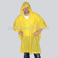 fashion long pvc rain poncho