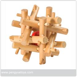 Wooden magic box Ball in Cube - PY4002