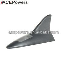 Solar LED Flash Car Shark Fin Antenna Warning Tail Light Black White Red Silver