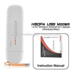 WCDMA 3G Wireless Network Card USB Wireless Modem Adapter for PC Tablet Support SIM Card HSDPA EDGE GPRS