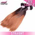 2014 virgen brasileña de dos tonos tejido humano caballo extensiones de cabello