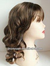 AAAAA Grade Natural Looking Mono Wig With Half Hand And Half Machine Wig
