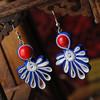 Modish Cloth Earring , Ruby Earrings Design (SWTNJGS660-1)