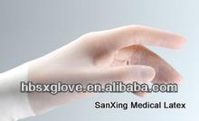 latex hand gloves long black skin color sterile medical dental disposable
