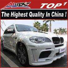 Body kits For BMW body kit 2007-2014 X5 HMV style wide body dual muffler