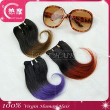 Cheap brazilian two tone hair extension wholesale factory price 100% brazilian human hair weave