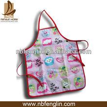 Niños de la cocina del delantal respetuoso del medio ambiente 100% algodón delantal de los niños