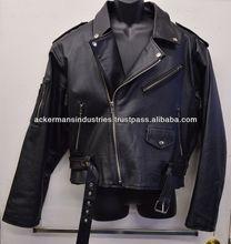 Marlon Brando Leather Motorcycle Jacket - Classic Rocker Style