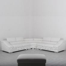 white leather sofa,Nice modern sofa,half moon leather sofa,OCS-628B