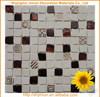 High quality low price irregular 1x1 folied mosaic tile brown