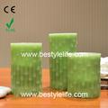 bambu em forma de cera real led vela verde