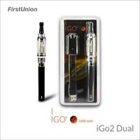 Firstunion new generation vaporizer e-cig iGo2 dual flavors clearomizer electronic cigarettes safe