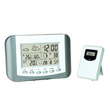 Home decor digital wireless weather station alarm clock