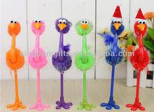 Trendy ostrich plastic ballpoint pen