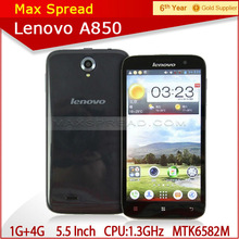 In stock original lenovo a850 mt6582m quad core cheapest 3g android mobile phone