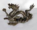 2014 vente chaude chinois dragon de bronze avec nuages de bon augure sculpture