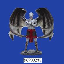 Home Decoration Custom Black Wings Fancy Devil Statue