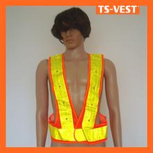 Glow in the dark led lights safety biker vest