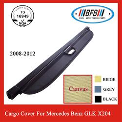 Retractable Rear Luggage Black Cargo Cover for benz x204
