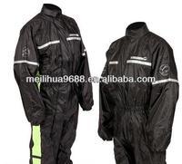 Cheap 190T Black Ployester MOTORCYCLE RAIN OVER SUIT