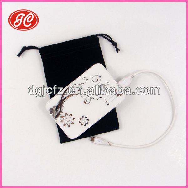 Customized Mobile Power Velvet Bag/Pouch