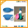 Collapsible Silicone pet travel water bottle bowl/folding pet bowl