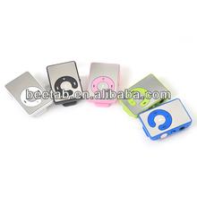 Newest Mini Sport Mirror clip MP3 Player 5 Colors