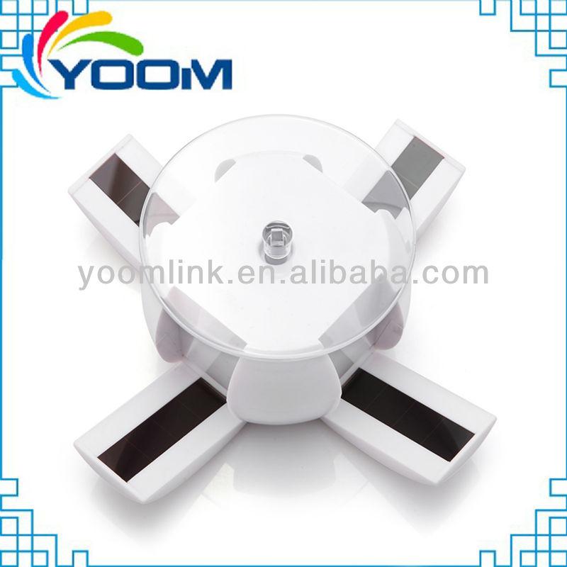 YMC-D06 360 degree auto solar power advertising display with apple shape