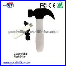 custom hammer soft pvc usb 2.0,logo usb memory stick,usb flash drive with custom logo,full capacity bulk cheap