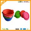 cute foldable travel eco-friendly silicone portable pet bowl