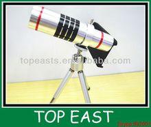 18X Zoom Magnifier Micro Telephoto Telescope Camera Lens with Mini Tripod for Iphone 5 5C