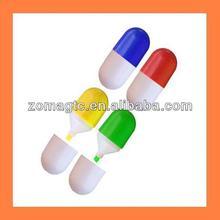 Pill shaped Standing Highlighter Pen
