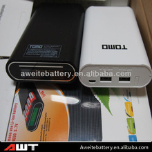 TOMO mobile power bank with white for 2*18650 3.7v battery smart phone power bank