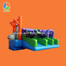 dolphin inflatable park,commercial dolphin inflatable slide