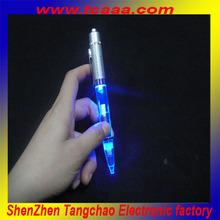 led flashing light plastic pen with light