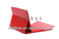 Wireless Bluetooth Silicon Keyboard + Folding Stand Leather Case Cover for iPad Air for iPad 5 100pcs/lot
